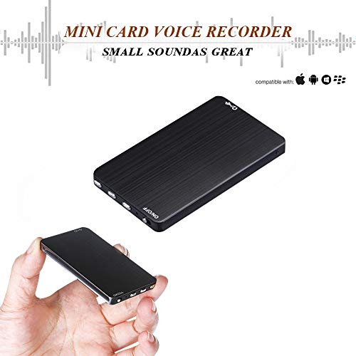 Mini Voice Activated Recorder - 8G Ultra-Thin Digital Audio Recorder Listening Device - 288 Hours Recording Capacity - More Than 80 Hours Battery Life (Voice Mini Recorder Activated)