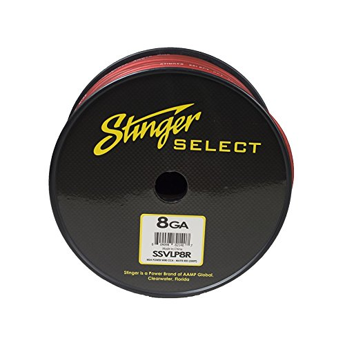 Stinger SSVLP8R 8Ga Matte Red Power Wire 250' by Stinger