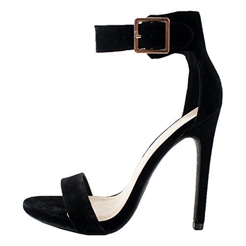 Lami Black Ankle 8 Canter Sole Single Heels Delicious High Strap Women's qzSzT