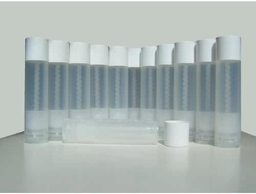 50 Lip Balm Empty Container Tubes 3/16 Oz (5.5ml), Natural (Translucent) Color. MADE IN THE USA