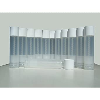 50 Lip Balm Empty Container Tubes 3/16 Oz (5.5ml), Natural (Translucent) Color