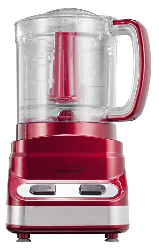 Brentwood FP-548 3-Cup Tone Color Food Processor, Red