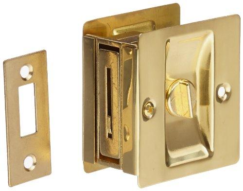 Rockwood 891.3 Brass Pocket Door Privacy Latch, 2-1/2