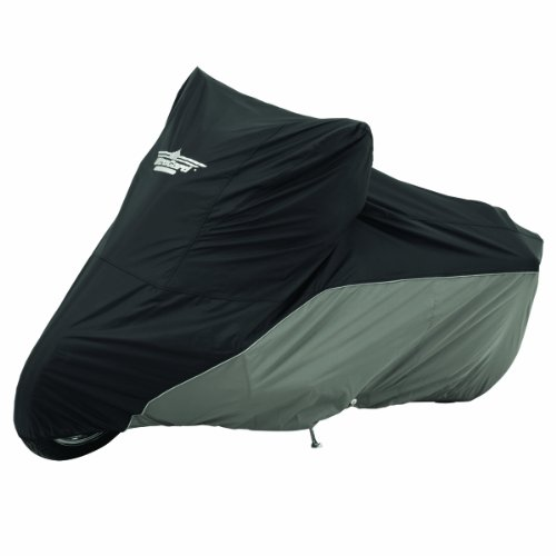 Deluxe Series Motorcycle Covers - UltraGard 4-443BC Black/Charcoal Street Motorcycle Cover