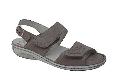 Waldläufer señoras de la sandalia de Garda 210007-633-088 gris grau
