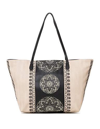 Desigual-Bag-Lady-Capri-Zipper-Women-Sacs-ports-paule-femme-Blanc-Crudo-Beige-13x28x30-cm-B-x-H-T