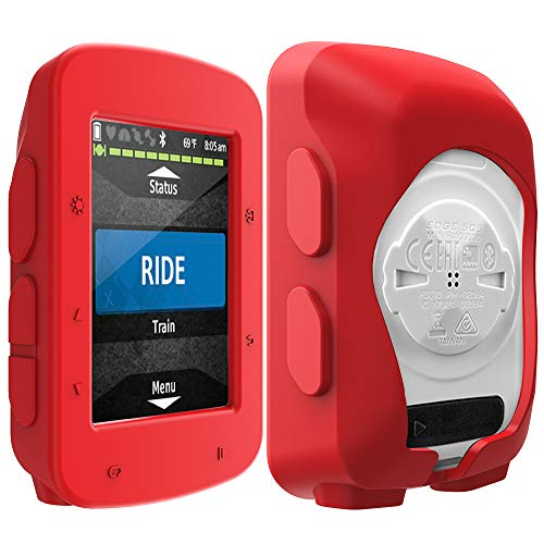 TUSITA Case for GarminEdge520 Plus - Silicone Protective Cover - GPS Bike Computer Accessories (Red)