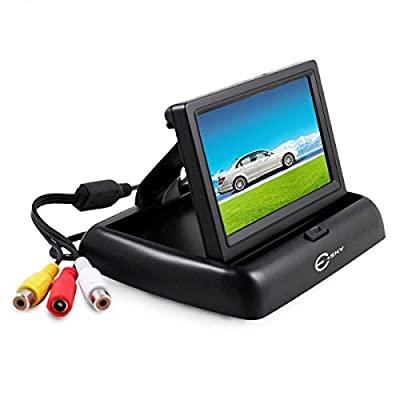 Backup Camera Monitor? Esky Foldable 4.3 Inch Anti-Glare Color LCD TFT High Definition Screen for Rear View Camera from Esky