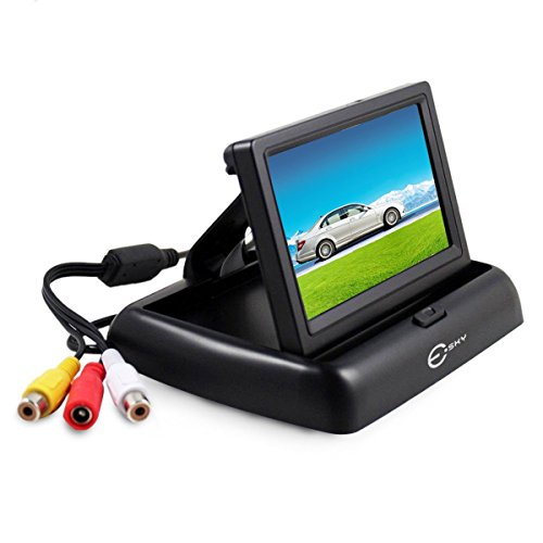 Backup Camera Monitor, Esky Foldable 4.3 Inch LCD TFT High Definition Screen for Rear View Camera