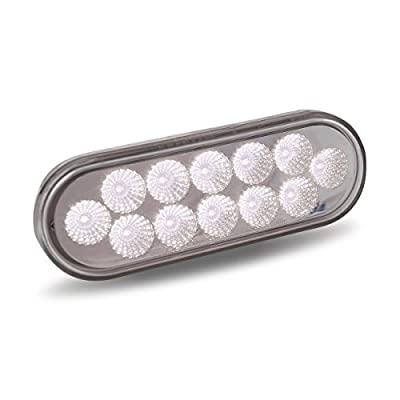 Dual Function Oval Red Stop, Turn & Tail and White Back-up LED Light: Automotive