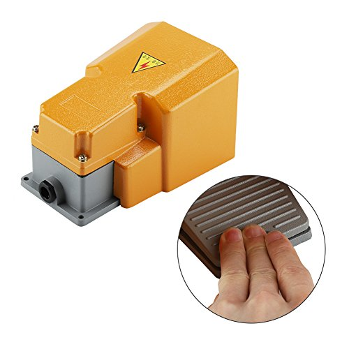 250V 10A Pedal Foot Switch,Acogedor Aluminum Alloy Oil Resistant Corrosion-Resistant Heavy Duty Foot Switch with Guard by Acogedor (Image #4)
