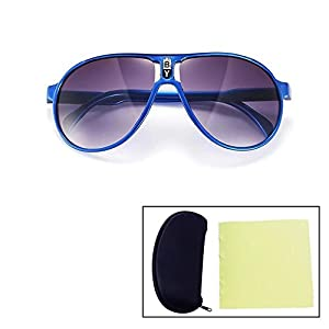 Sealive Fashion Children Sunglasses Boys Girls Glasses Frame Suitable for Various Face Types(Blue),With a Sunglasses Hard Case Protector and Microfiber Cleaning Cloth(Random Color)