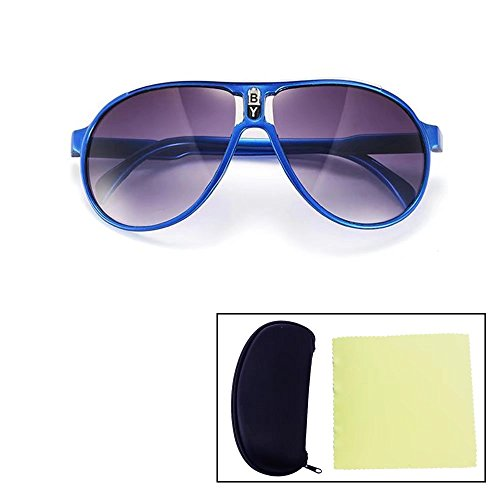 Sealive Fashion Children Sunglasses Boys Girls Glasses Frame Suitable for Various Face Types(Blue),With a Sunglasses Hard Case Protector and Microfiber Cleaning Cloth(Random Color) (Sunoptic Frames)
