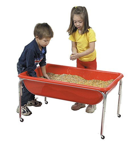(Children's Factory Large Sensory Table for Kids in Red (36 x 24 x 24)