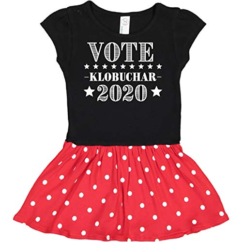 - inktastic - Vote Amy Infant Dress 24 Months Black & Red with Polka Dots 3490a