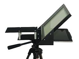 iPad iPad2 iPad3 iPad4 iPad Mini Teleprompter R810-10 with Beam Splitter Glass + Bracket to use iPhone Camera
