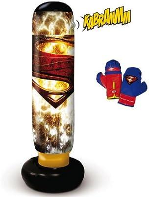 D ARPEJE Superman - Maxi Punching ball sonoro + Funbee - Portería ...