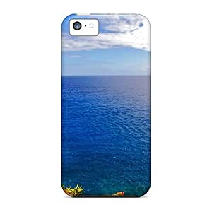 Fashion Tpu Case For Iphone 5c- Alone In Sea Defender Case Cover