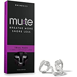 Rhinomed Mute Nasal Dilator for Snoring Reduction, Assorted