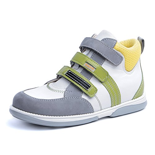 Memo Polo 3AB Diagnostic Sole Ankle Support Kid's Orthopedic Leather Sneaker, 34 (3K) by Memo