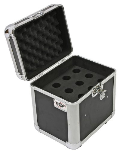 OSP Cases | Road Case | Microphone Transport Case | 12 Mic Capacity | (Microphone Storage)