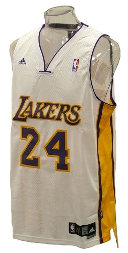 Adidas - Camiseta de baloncesto, diseño de Kobe Bryant #24, escolta de Los Angeles Lakers NBA, color blanco Talla:large: Amazon.es: Deportes y aire libre