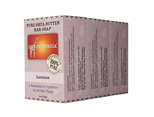Out of Africa Shea Butter Bar Soap, Lavender, 12 Ounce, 3 Count