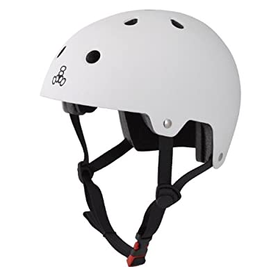 Triple Eight Certified Rubber Helmet (White, Large/X-Large) from Triple Eight