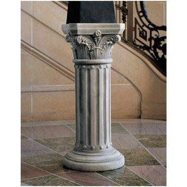 Column of Corinth Greek Athenian Pedestal Sculpture home garden statue