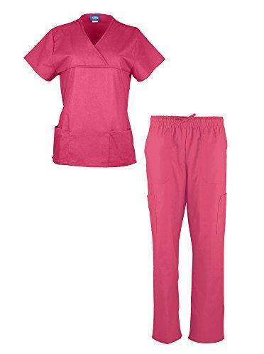Liberty Scrubs Women's Scrub Sets / Medical Scrubs (Crossover V-Neck with Tie Back)/Nurses Uniform Set