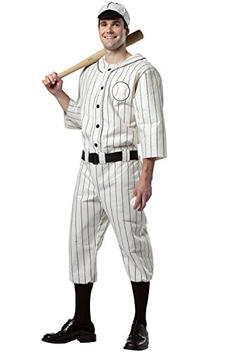 [Old Tyme Baseball Player Adult Costume - One Size] (Baseball Player Costume Men)