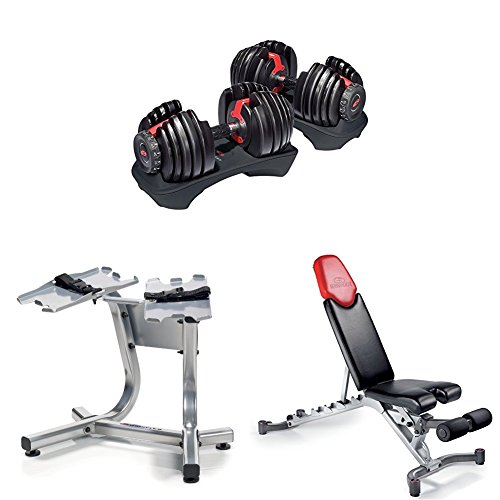 BowflexSelectTech 552 Adjustable Dumbbells (Pair), Series 5.1 Bench, and Stand by Bowflex