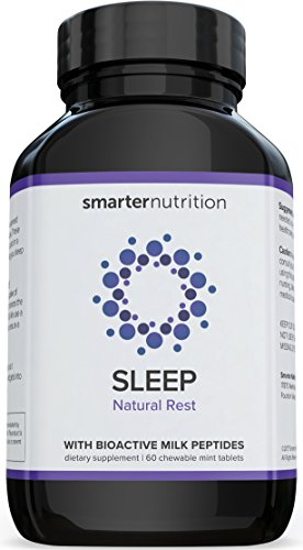 Smarter Sleep - Nighttime Sleep Aid with Bioactive Milk Peptides | Includes Organic Ingredients, AstraGin, Melatonin, a Naturally-Occurring Hormone for Regulating Sleep (60 Count - 1 Month Supply)