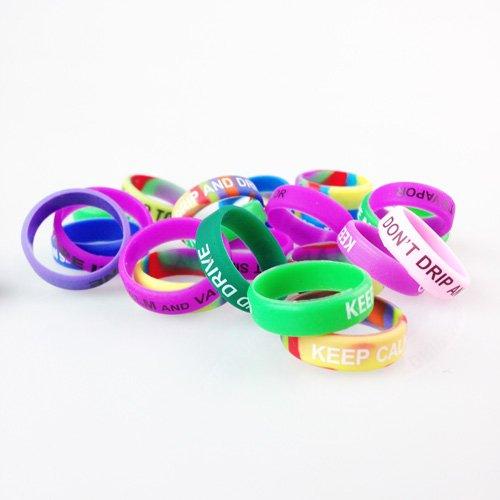 Vape Rings Silicone Anti Slip Band - Pack of 20 Vape Rings made - for RBA RDA Tank Mechanical Mods - Diameter 22mm (20pcs)