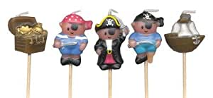 Piratas Mini Velas de Pick (Paquete de 5)