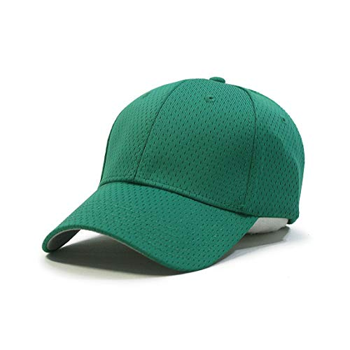 Plain Pro Cool Mesh Low Profile Adjustable Baseball Cap (Kelly) - Green Twill Mesh Cap
