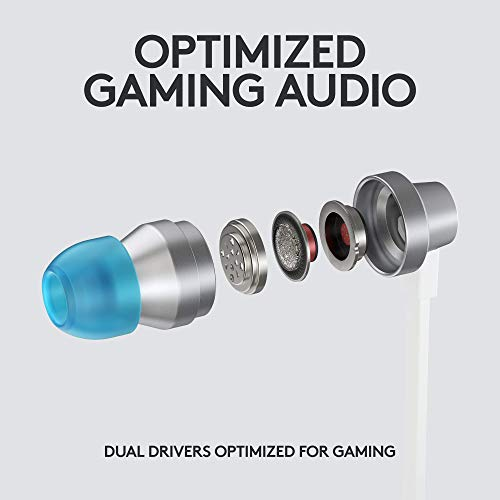 Logitech G333 VR Gaming Earphones for Oculus Quest 2 – Oculus Ready – Custom-length Cable and Straps – Dual Driver Audio Designed for Gaming – Durable Aluminum Housing – Low-Latency 3.5 mm Aux 41IvHZZtoqL
