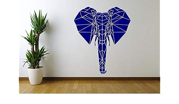 wukongsun Calcomanías de Pared de Elefante Animales africanos geometría Especial artículos para el hogar vinilos Modernos vinilos para habitación de niños extraíble 63cmx78cm: Amazon.es: Hogar