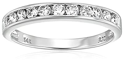 1/2 cttw SI2-I1 AGS Certified 14K Gold Classic Diamond Wedding Band (H-I Color)