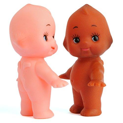 (Vintage Repertory Lot of 2 Kewpie Mayo Baby Dolls Antique Vinyl Made Japan Sonny Angel Figurine 2