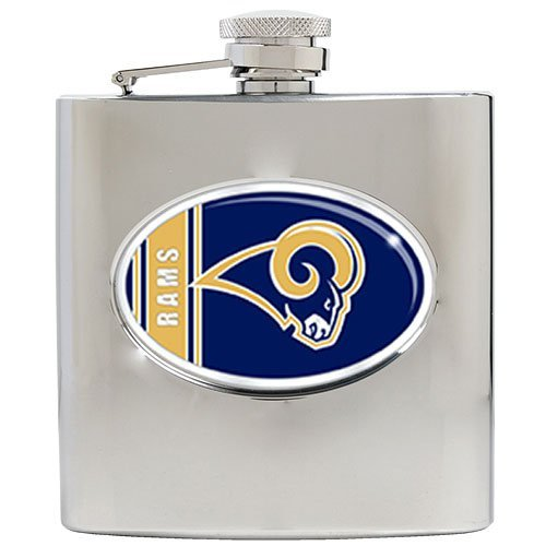NFL St. Louis Rams 6oz Stainless Steel Hip Flask