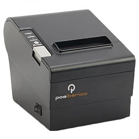 Posiberica Impresora TERMICA P80 Plus-USL USB/RS232/LAN Negra - Terminal de Punto de Venta (Térmico, POS Printer, 24 x 24 mm, 250 mm/s, 203 x 203 dpi, ...