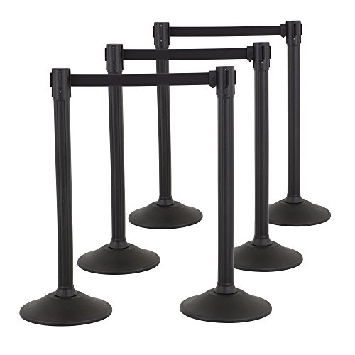 US Weight Sentry Stanchion with Retractable Belt (6-Pack) by US Weight