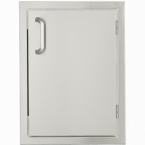 Flush Mounted Drawers Single (BBQGuys.com Kingston Series 17-inch Stainless Steel Right-hinged Single Access Door - Vertical)