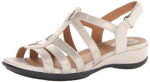Clarks Women's Tiffani Oribel Wedge Sandal,Beige,6 M US
