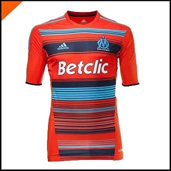 Adidas-Camiseta Oficial del Club de fútbol Olympique de Marsella Techfit O58276, Color -