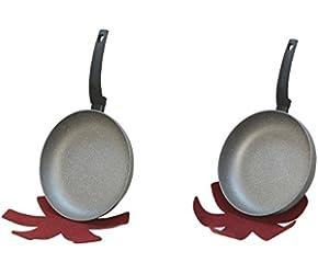 10'' DEEP 10'' Regular Lava Stone Fry Frying Pan Felt pad Non Stick Scratch Resistant Skillet Eco Friendly