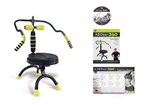 AB Doer 360, The Abs Workout Equipment for Total Core Exercise, Fat-Burning, Toning and Fitness at Home