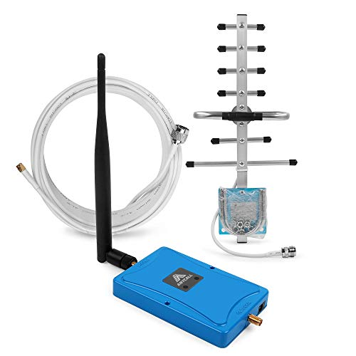 Cell Phone Signal Booster for Home Use - Dual Band 850/1900 MHz Amplifier Repeater Kit with Whip/Yagi Antennas for Verizon AT&T T-Mobile 2G 3G Voice Signal Up to 2,000Sq Ft