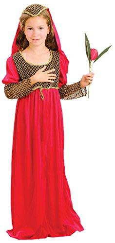 Bristol Novelty Juliet Costume (XL) Child Girl Age 9 - 11 Years -